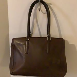 Vintage Coach brown leather briefcase authentic